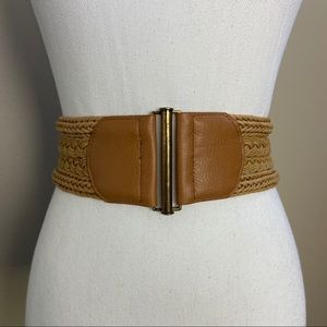Banana Republic Woven Stretch Belt Tan Small